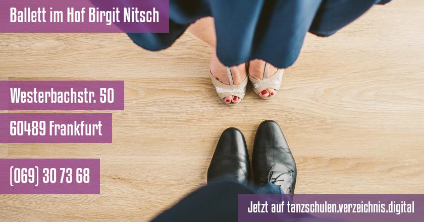 Ballett im Hof Birgit Nitsch auf tanzschulen.verzeichnis.digital