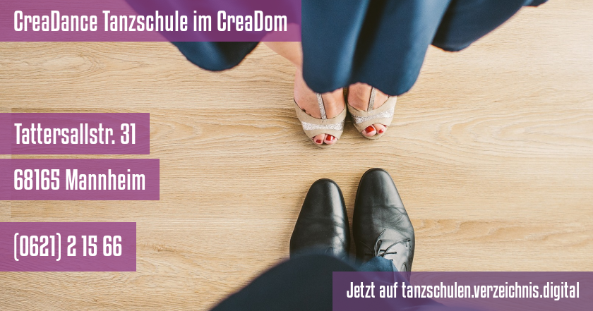 CreaDance Tanzschule im CreaDom auf tanzschulen.verzeichnis.digital
